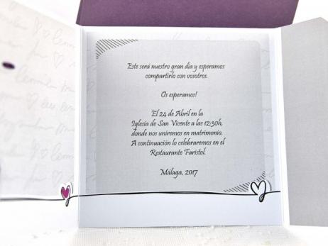Invitación de boda - NOVIOS FELICES   (C64135)