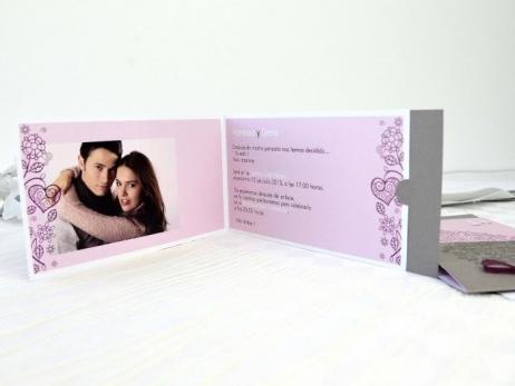 Invitación de boda - ELEGANTE CON FOTO    (A64532)