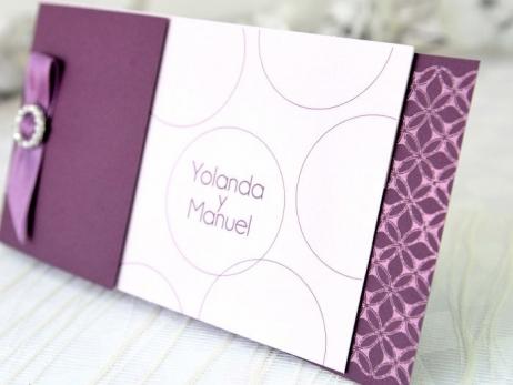Invitación de boda - ELEGANTE MORADA    (A64632)