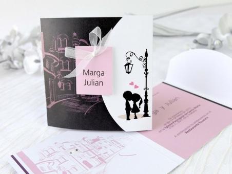 Invitación de boda barata 32649