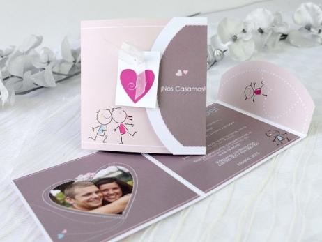 Invitación de boda - DIVERTIDA CON FOTO   (A65032)