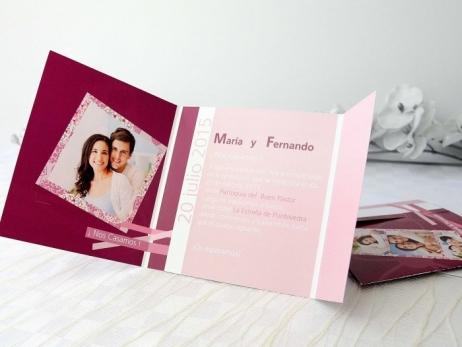 Invitación de boda - CON FOTO   (A66032)