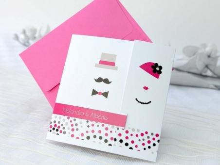 Invitación de boda con foto divertida  32661