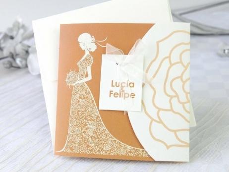 Invitación de boda - ELEGANTE CON FOTO    (A66932)