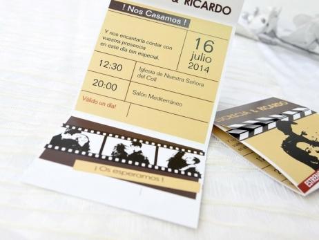 Invitación de boda - CLAQUETA CON FOTO   (A67032)