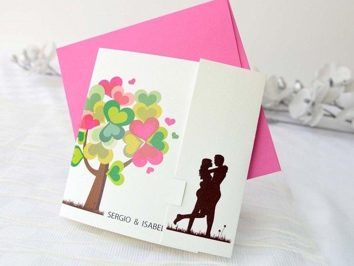 Invitación de boda - ARBOL DEL AMOR   (A68132)