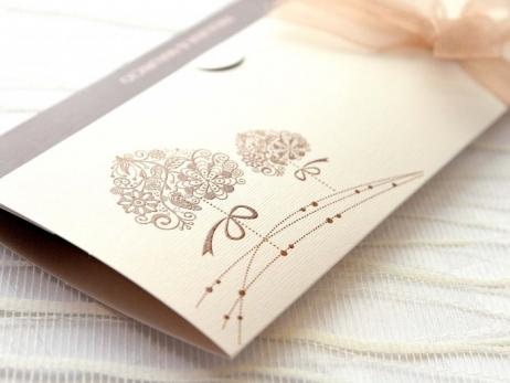 Invitación de boda - ELEGANTE MARRON    (A68232)