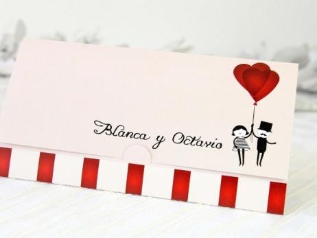 Invitación de boda - NOVIOS GLOBOS    (A69132)