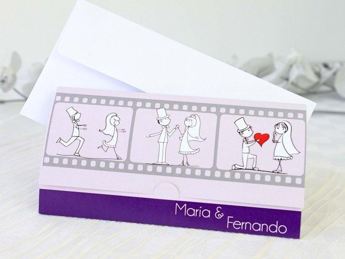 Invitación de boda - NOVIOS PELICULA   (A69232)