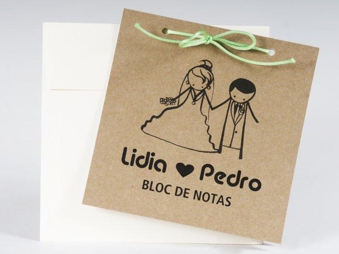 Invitación de boda - BLOC DE NOTAS   (MA17)