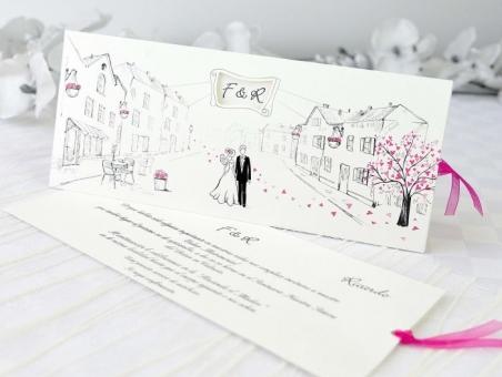 Invitación de boda informal diferente 60331