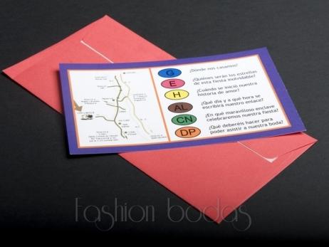 Invitación de boda - TRIVIAL    (MIL19)