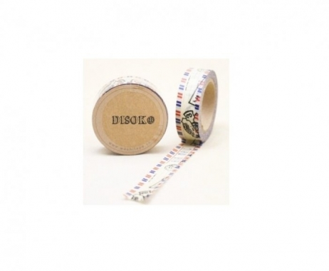 Cinta adhesiva Washi Tape 15mm x 10 metros DS-134