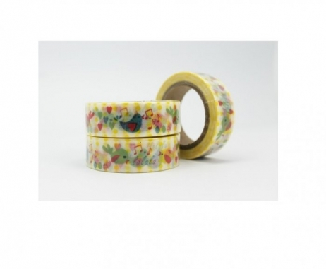 Cinta Adhesiva Washi Tape 15MM X 10 Metros DS-136