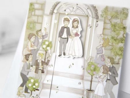 Invitación de boda barata informal 30301