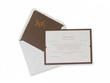 Invitación de boda - CLÁSICA ES 320