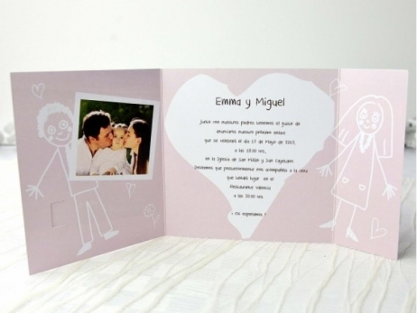 Invitación de boda - PAPI Y MAMI CON FOTO   (A69332)