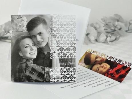 Invitación de boda - ORIGINAL CON FOTO   (A68532)