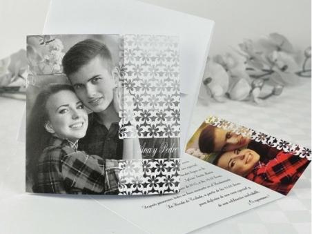 Invitación de boda barata con foto 32685