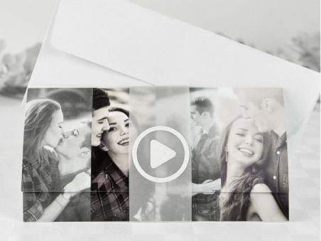 Invitación de boda barata con foto original 32686