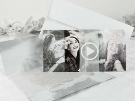 Invitación de boda - ORIGINAL CON FOTO   (A68632)