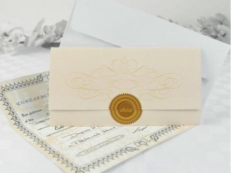Invitación de boda - DOCUMENTO OFICIAL  (A61732)