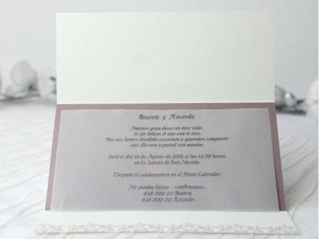 Invitación de boda elegante barata 32657