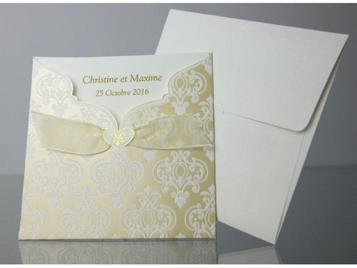 Invitación de boda - ELEGANTE DORADA   (C80032)