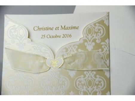 Invitación de boda elegante dorada 32800