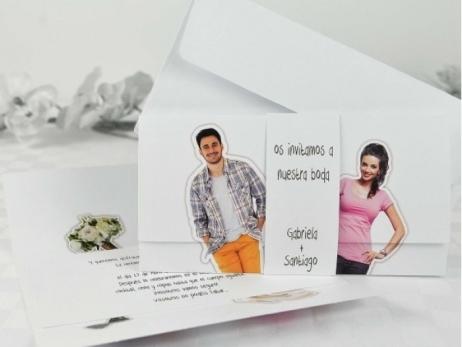 Invitación de boda - DIVERTIDA CON FOTO   (A68732)