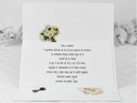 Invitación de boda barata con foto 32687