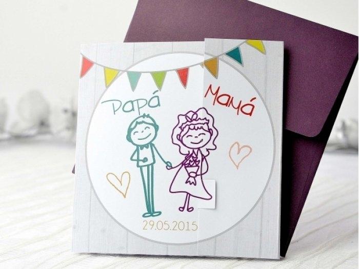 Invitación de boda - PAPA Y MAMA   (A69032)