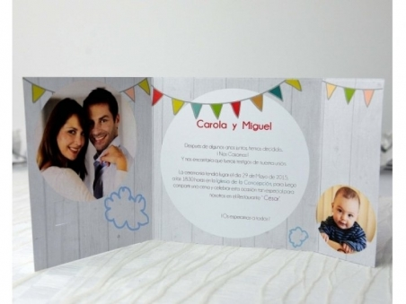 Invitación de boda con hijos 32690