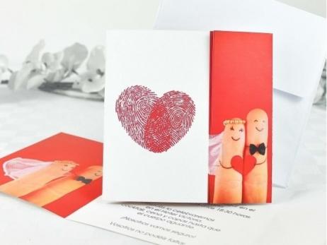 Invitación de boda - HUELLAS DACTILARES   (A61832)