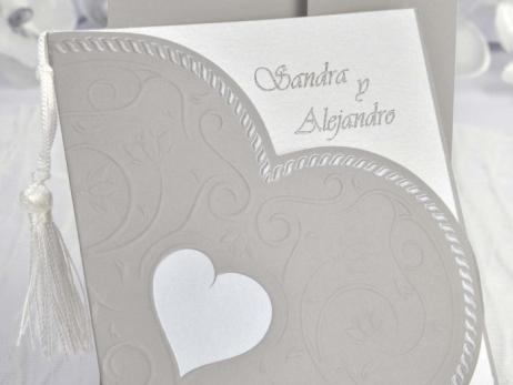 Invitación de boda - ELEGANTE CORAZON  (C10335)