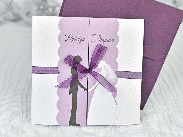 Invitación de boda - PAREJA ROMANTICA   (C39104)