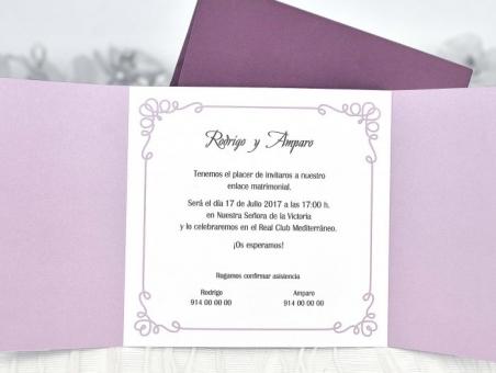 Invitación de boda barata romantica pareja 39104