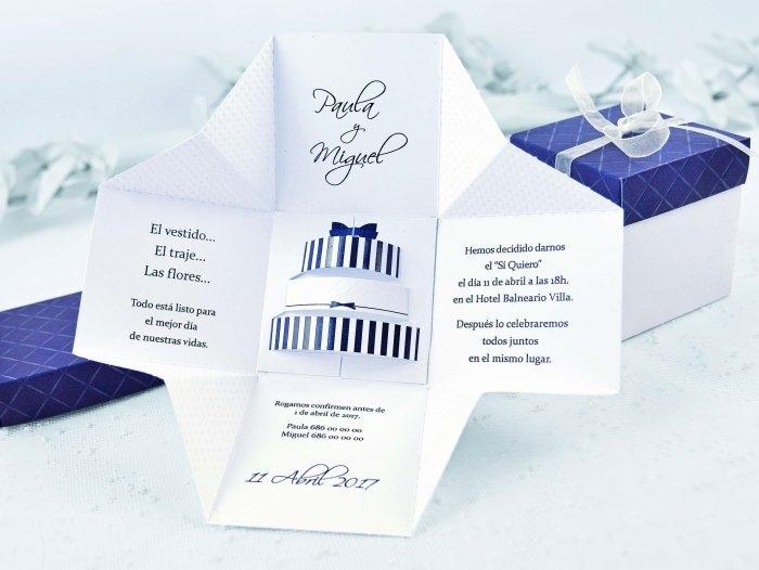 Invitación de boda - CAJA TARTA   (C39107)