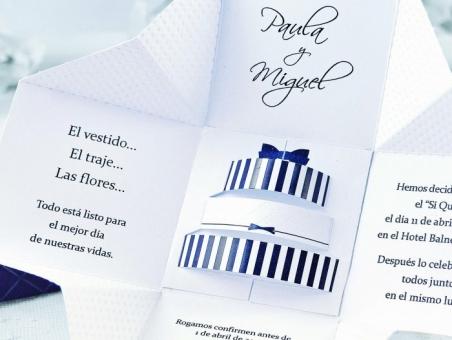 Invitación de boda barata original caja 39107