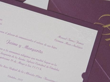 Invitación de boda - CLÁSICA ES 325
