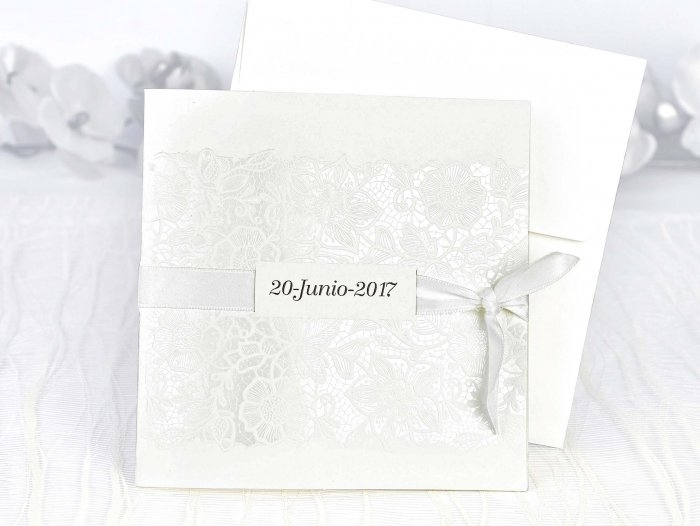 Invitación de boda - ELEGANTE ENCAJE    (C10839)