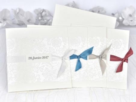 Invitación de boda elegante sencilla barata 39108
