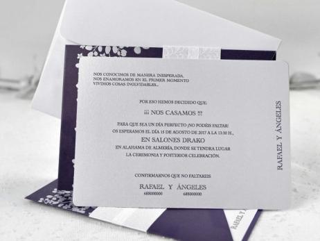 Invitación de boda - ELEGANTE MORADA    (CARD 39111)