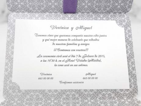 Invitación de boda - ELEGANTE GRIS    (C11339)