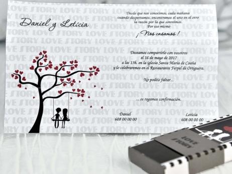 Invitación de boda - CAJA PELICULA    (C11639)