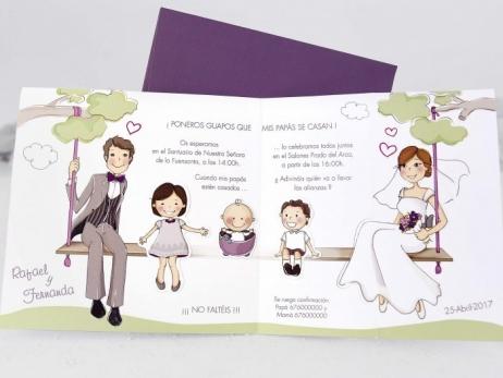 Invitación de boda - PAPA Y MAMA   (C12439)