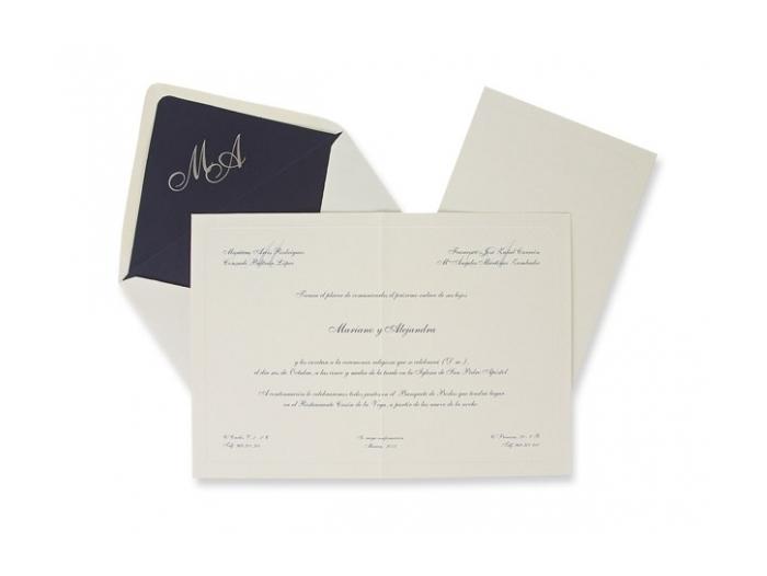 Invitación de boda - CLÁSICA ES 326
