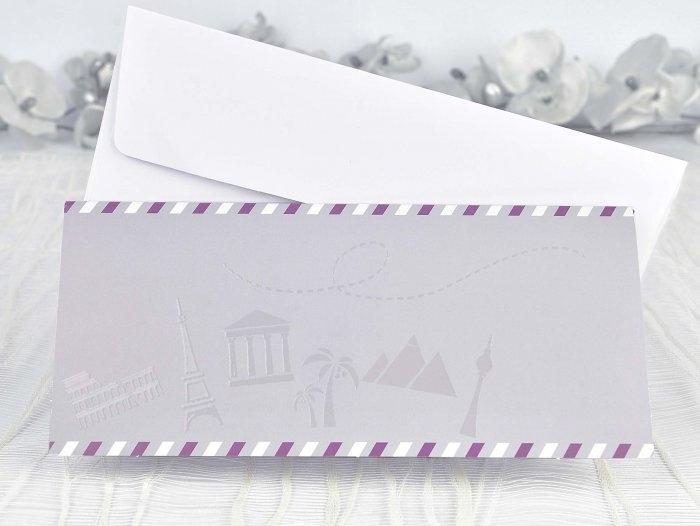 Invitación de boda - BILLETE DE AVION   (C13139)
