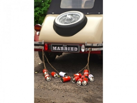 MATRICULA PARA COCHE NOVIOS  Just Married  T75