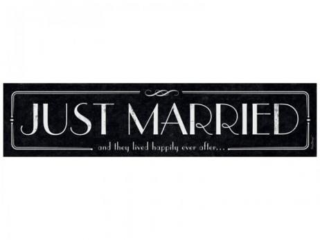 MATRICULA PARA COCHE NOVIOS  Just Married 3  T86